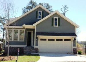 Green home, front exterior | Barrett Preserve Marietta | Active Adult