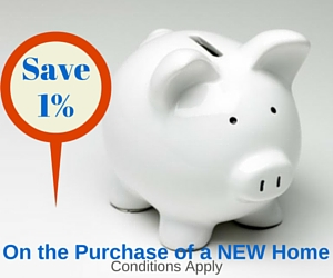 Piggy Bank offering Buyer Rebate on New Construction Home Purchases