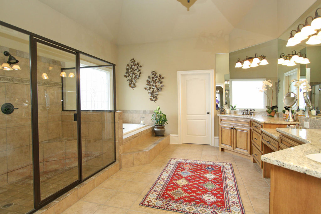 Large Master Bath with tile floors