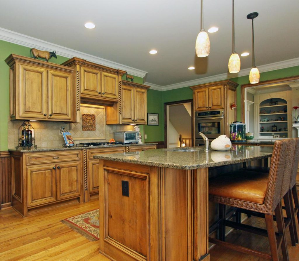 A Well Organized Kitchen With Clean Counter Tops & Upgraded Appliances