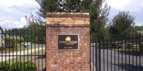 Arbor Ridge at Marietta Monument
