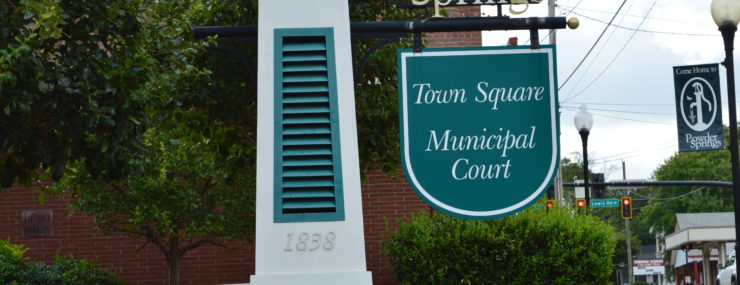 Powder Springs Municipal marker
