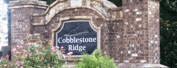 Cobblestone Ridge Entrance Marker   Active Adult   Marietta GA
