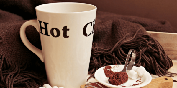 Cozy hot chocolate slider