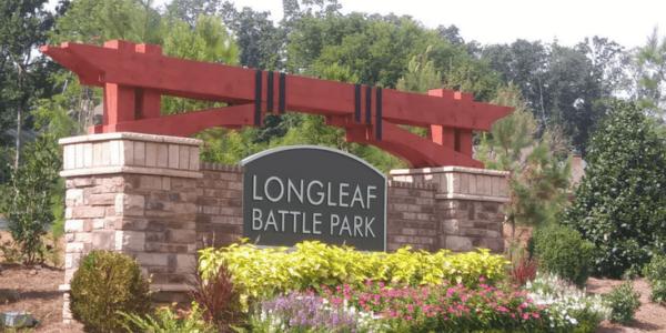 longleaf battle park monument slider
