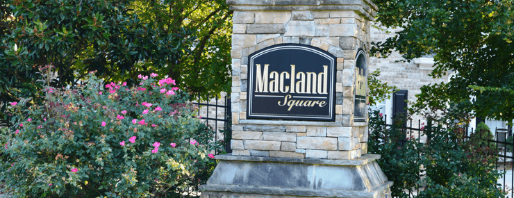 Macland Square Entrance Marker | Active Adult | Marietta GA | DRA Homes