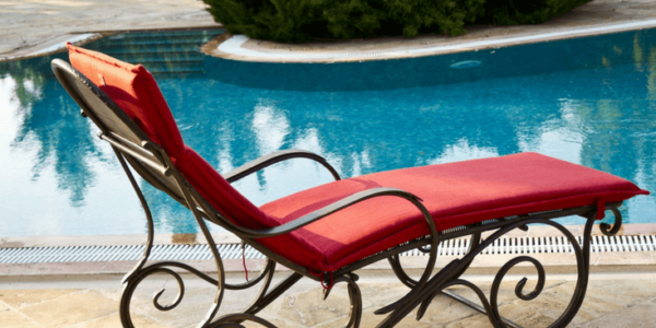 pool red sun chair