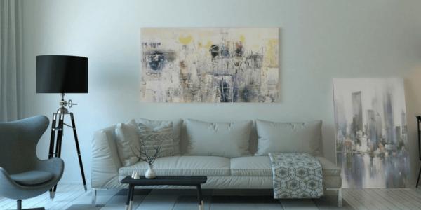 white grey living room slider