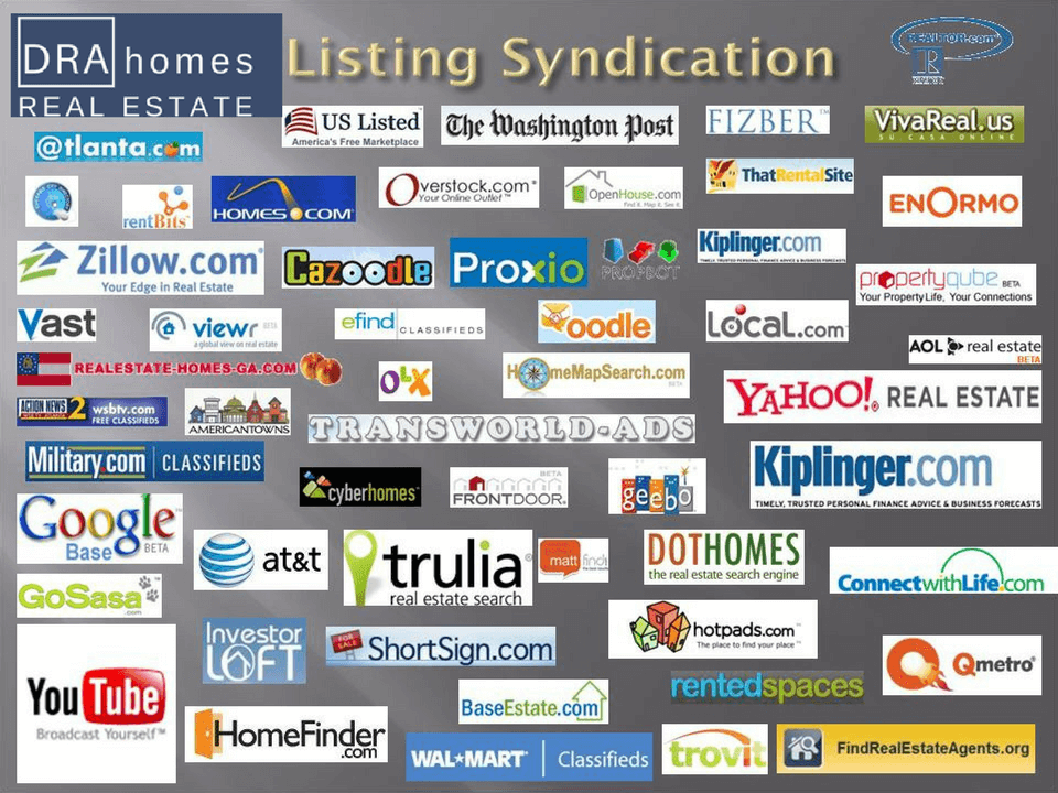 Image showing various logos of real estate syndication websites