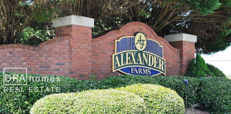 Alexander Farms Entrance | Marietta 30064 | DRA Homes Real Estate Watermark