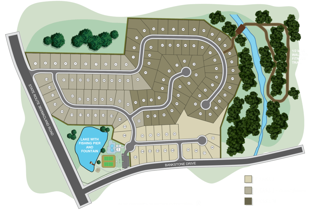 Cambridge Preserve Marietta GA 30064 Homes for Sale | Site plan