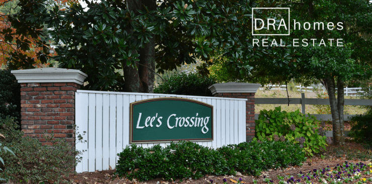 Lees Crossing Entrance Marker | Marietta GA 30064 | DRA Homes Real Estate Watermark