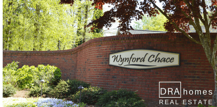 Wynford Chace Entrance | Marietta 30064 | DRA Homes Real Estate Watermark