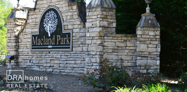 Macland Park Entrance Marker | Marietta 30064 | DRA Homes Real Estate watermark