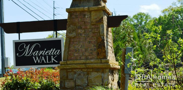 Marietta Walk Entrance Marker | Marietta 30064 | DRA Homes Real Estate watermark