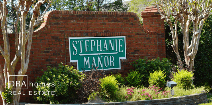 Stephanie Manor Entrance Marker | Marietta GA | DRA Homes Real Estate watermark