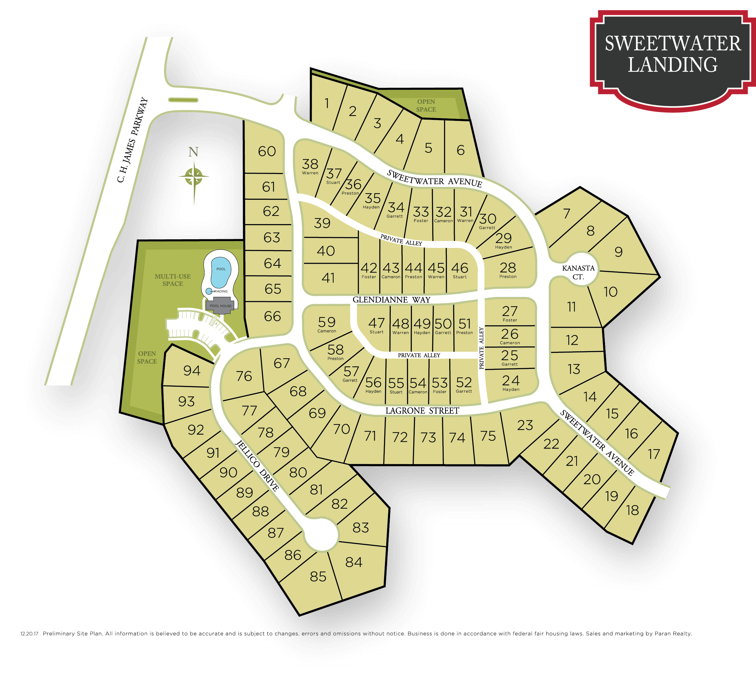 Sweetwater Landing Powder Springs | Site Plan