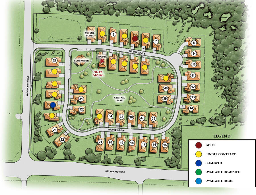 Encore Windsong Site Map | Active Adult Community | Kennesaw GA 30152