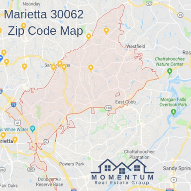 Marietta 30062 Homes for Sale | 30062 Real Estate | Marietta 30062 Zip Code Mapy | Jenna Dixon | Momentum Real Estate Group